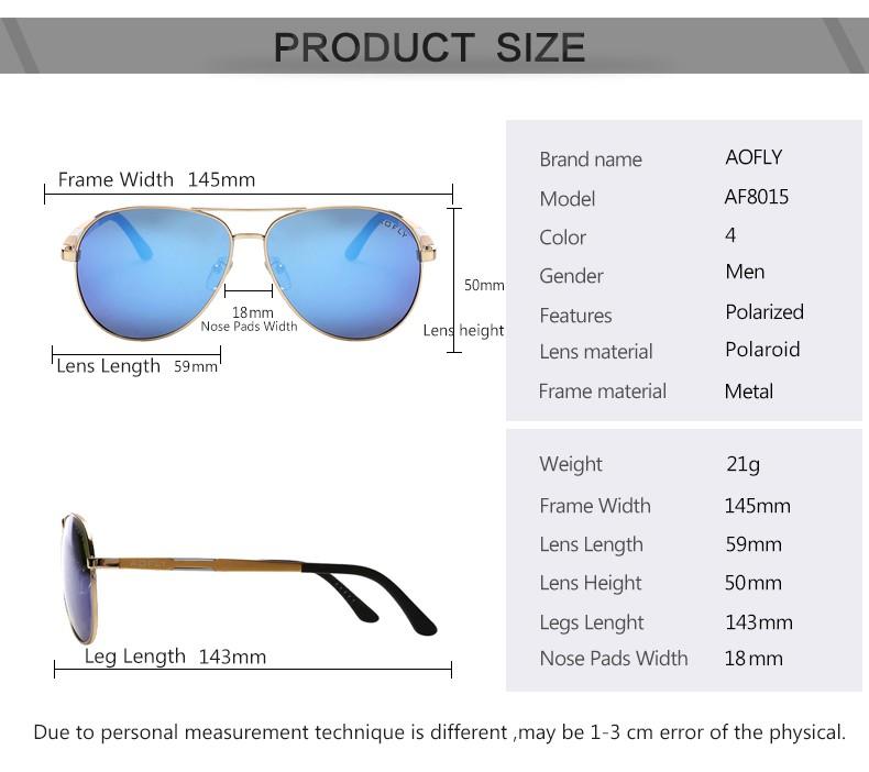 6860cbef380 AOFLY Cool Original Brand Sunglasses Polarized Sunglasses Men HD Polaroid  Lens Mirror Driving Outdoor Sun glasses Male Google