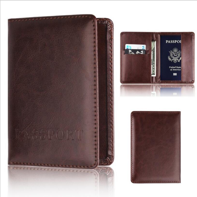 все цены на eTya Women Men Credit Card Holder Wallet Travel Men Passport Cover Holder Wallet Fashion PU Leather Business Passport Wallet