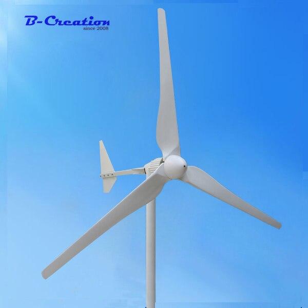 Triphasé AC sortie 2KW 2000W 48v 96v 110v 220V 380v éolienne/éolienne 3 m/s faible vitesse de vent démarrage 3 lame