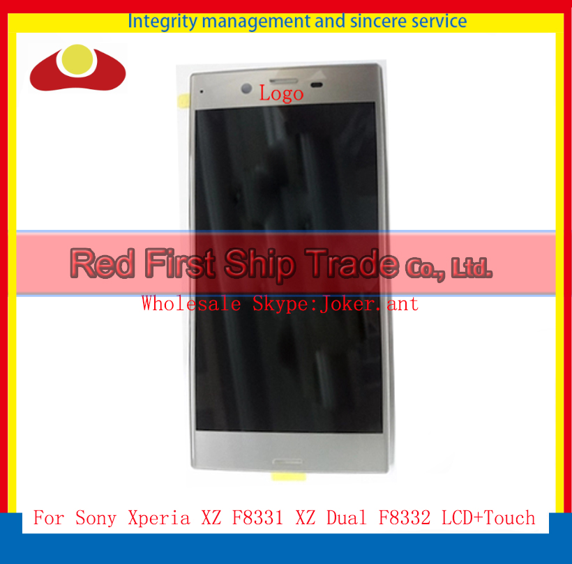 5.2 For Sony Xperia XZ F8331 XZ Dual F8332 Full Lcd Display Touch Screen Digitizer Sensor Panel Lens Assembly Complate+Track