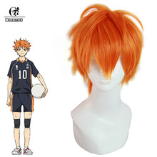 ROLECOS Haikyuu Hinata Shoyo Cosplay Headwear Short Orange Synthetic Hair Anime Cosplay 25cm / 9.84inches Hallween Party(China)