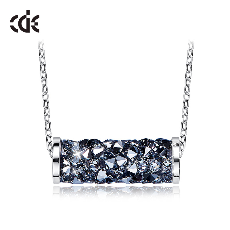 CDE 925 Sterling Necklace Embellished with crystals from Swarovski Pendant Necklace For Women Geometric Necklace Chain JewelryCDE 925 Sterling Necklace Embellished with crystals from Swarovski Pendant Necklace For Women Geometric Necklace Chain Jewelry