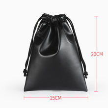 10PCS 11*15,20*25cm pu Leather Bag Drawstring Pouches Jewelry Bags Gift Package For Party Holiday New Year Gift pouch