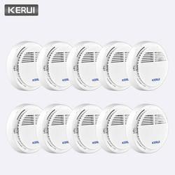 KERUI 10 шт. беспроводной чувствительной пожарной защиты детекторы дыма работать самостоятельно дома склад офис охранной сигнализации