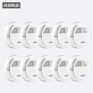 Image 1 - Kerui 10 個ワイヤレスセンシティブ防火煙検出器独立して動作ホーム倉庫オフィスセキュリティ警報