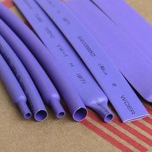 5 м/лот фиолетовый 2 мм-16 мм ассортимент Соотношение 2:1 Полиолефиновая термоусадочная трубка кабельная муфта