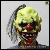 Бесплатная доставка маска клоуна страшно Ужасы Тема Halloween карнавальных Косплэй Маски для век оптовая продажа