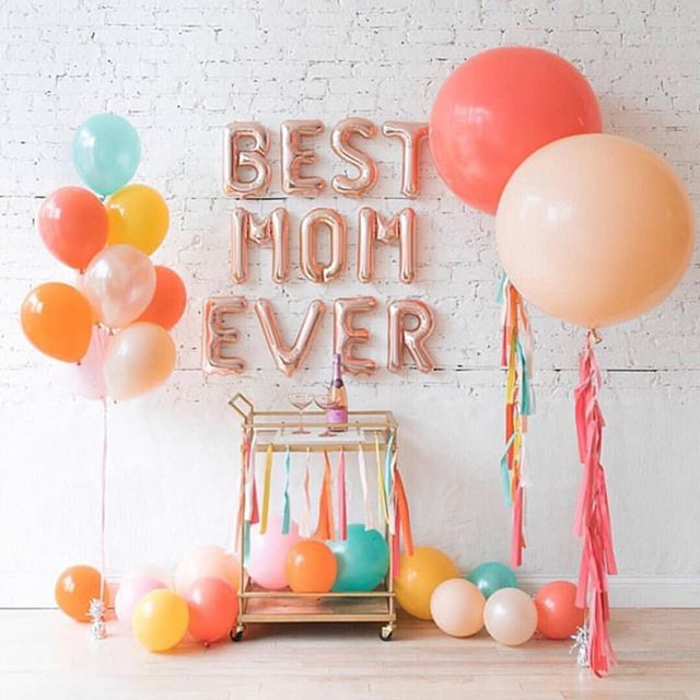 11pcs Lot Gold Best Mom Ever Letter Ballloons 16 Happy Mothers Day Balloons For Mother Festival Mama Gift Party Supply