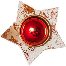 Star Red Candle Holders Carousel Party Decorations Ornaments Lights Candlestick Crafts Bougeoir Christmas Centerpiece 50ch016(China)