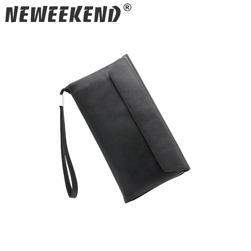 25c37662195a7 NEWEEKEND خمر الذكور الرجال محافظ عارضة عملة محفظة مخلب حقيبة يد جلد البقر  طويلة تصميم الحقيبة الجيب 3016