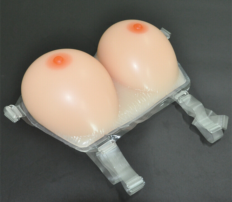 ФОТО 1Pair L size(820g)False breast Artificial Breasts Silicone Breast Forms 34C/36B/38A Fake boobs realistic silicone breast forms