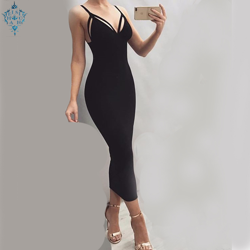 Ameision Fashion Women Party Short Evening Dresses 2019 Evening Gown Scoop Stretch Fabric Zipper Straight Slim Fit Formal Dress in Evening Dresses from Weddings Events