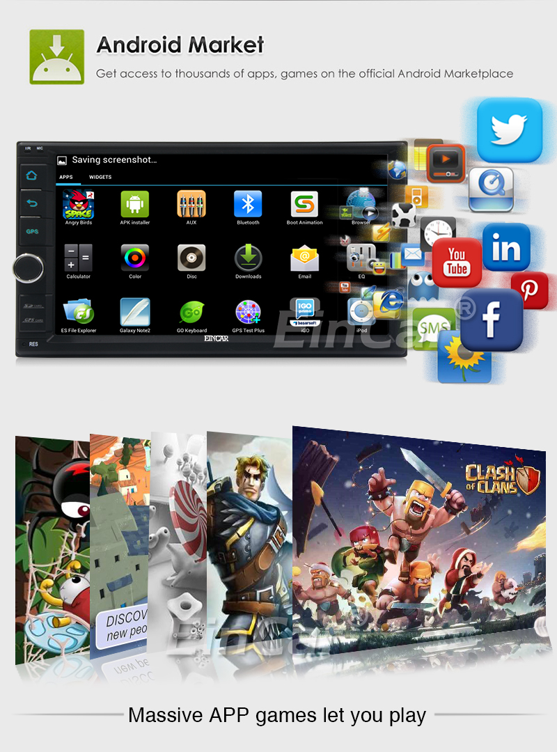 Top 2Din Head Unit Android 5.1.1 GPS radio Car Stereo Auto Radio Audio 1080P Video Player Wifi FM Steering Wheel Control+rear Camera 3