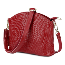 The First Layer of Cowhide Leather Fashion Knitting Style Female Messenger Bag Bolsas Feminina Guaranteed Leather Cross-body Bag стоимость