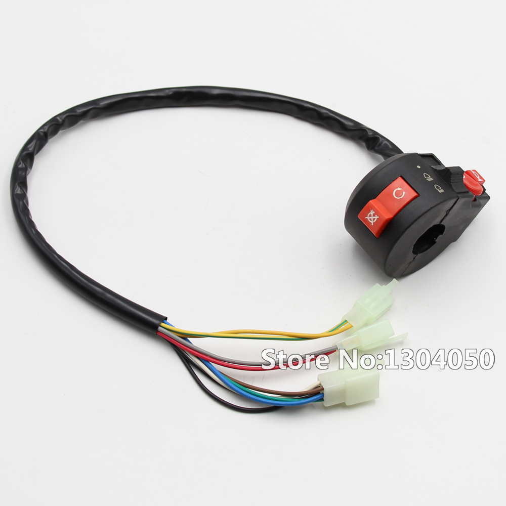 small resolution of kill light starter horn switch atv kazuma taotao sunl roketa 50cc 70cc 90cc 110cc 125cc new