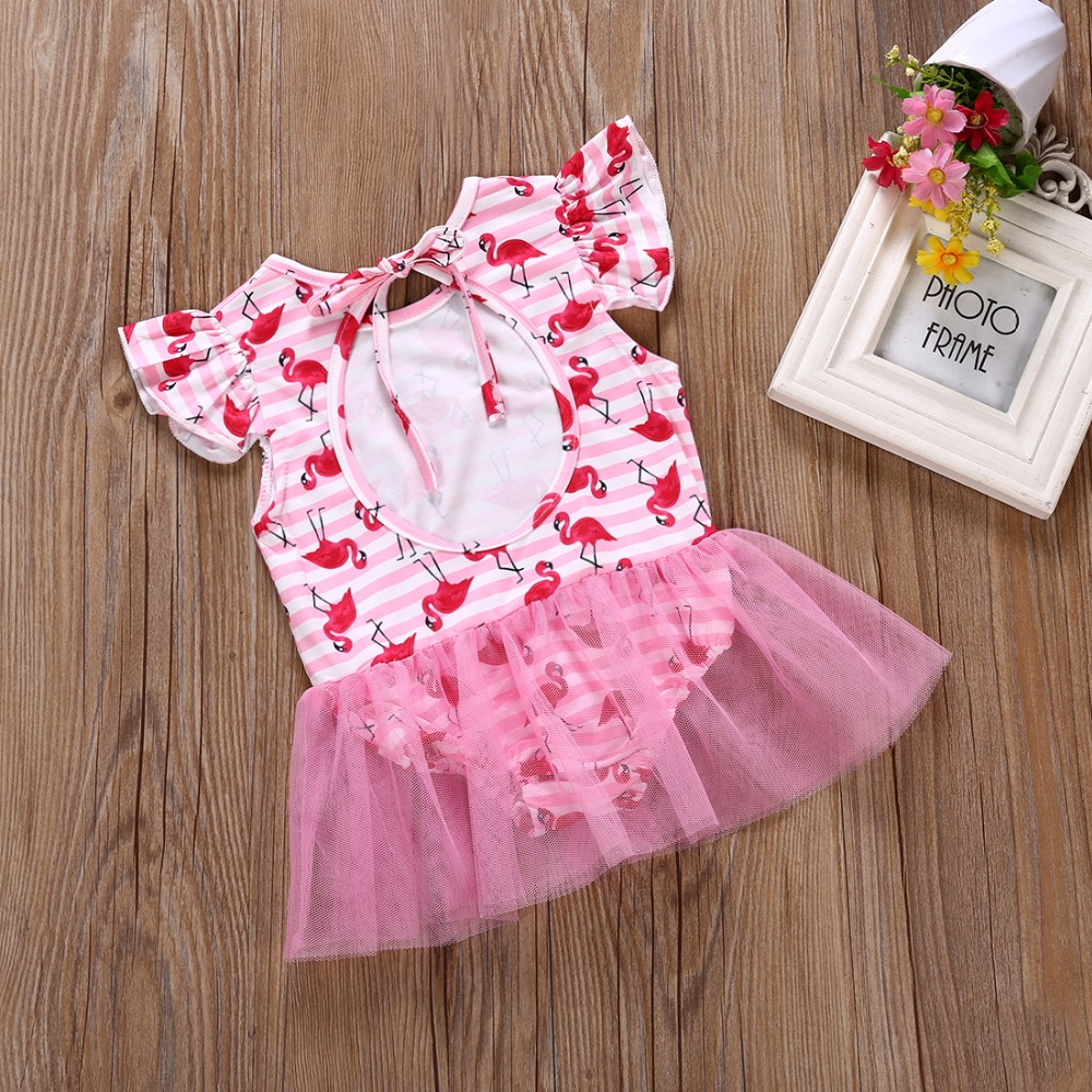 Newborn Infant Baby Girl Romper 2018 Summer Baby Girls Clothing Flamingo Jumpsuit Toddle kids babies Clothes Outfits