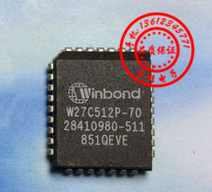 FreeShipping <font><b>W27C512P</b></font>-70 <font><b>W27C512P</b></font> IC chip PLCC image