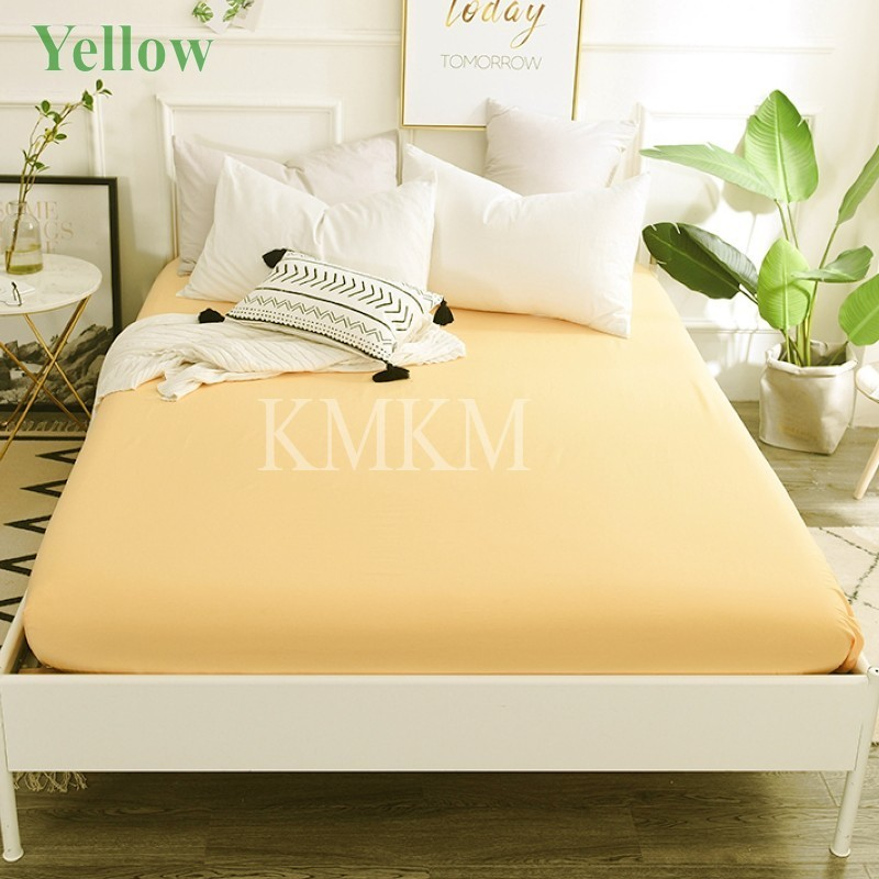 yellow bed sheet