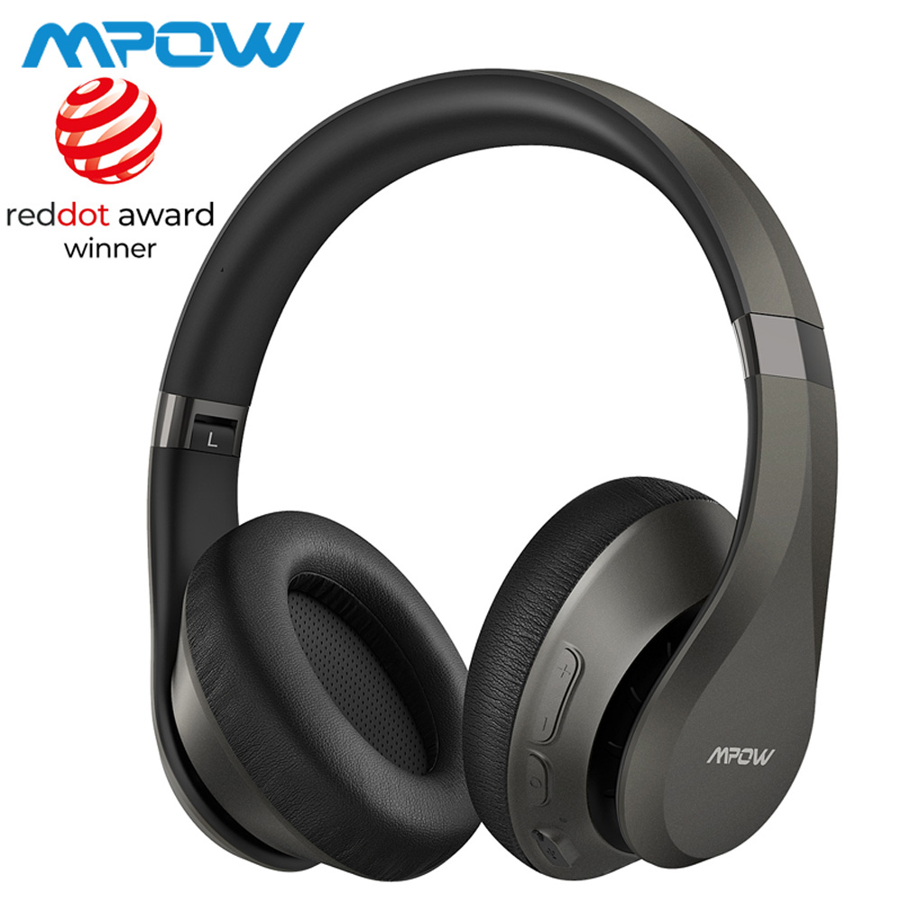 Mpow H20 059 Updated Version Bluetooth 5.0 30h Playing Time Hi-Fi Deep Bass Wieless Headphones CVC 8.0 Microphone For Smarphones