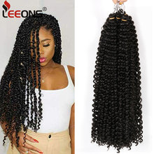 Leeons tutku büküm örgü saç 18 inç kabarık Twists örgü saç uzun Bohemian tığ sentetik Ombre saç uzatma