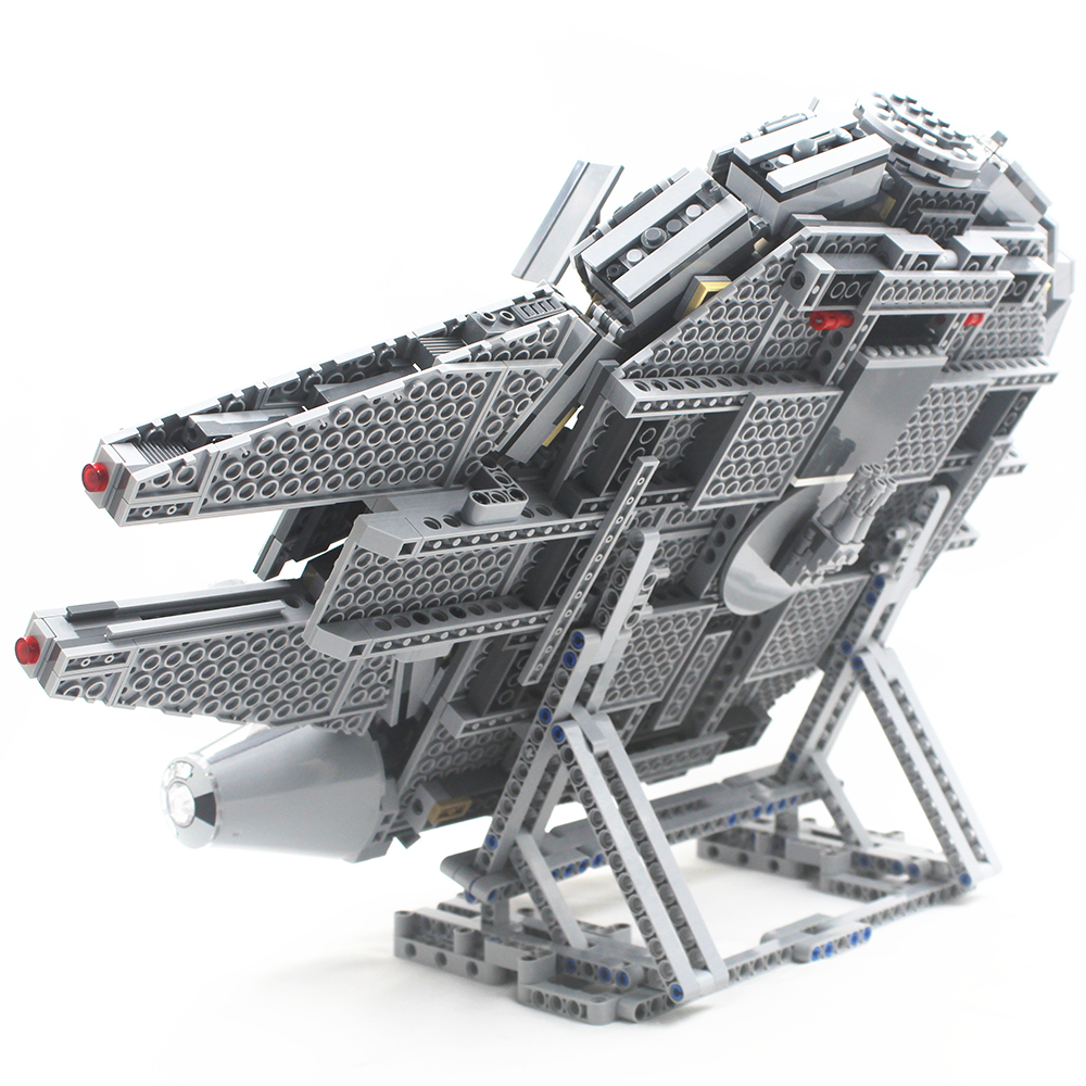 Millennium Falcon Vertical Display Stand Compatible with Lego 75105 and 05007 Building Blocks Bricks with Building Instruction
