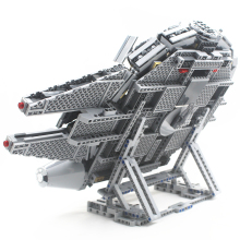 Republican Falcon Vertical Display Stand Compatible with Lego 75105 and 05007 Building Block Brick with Building Instruction