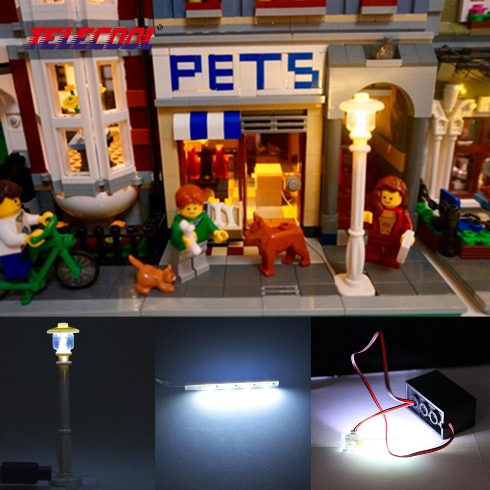 TELECOOL LED אור קיט עם תיבת כוח או USB עבור - צעצועים בנייה