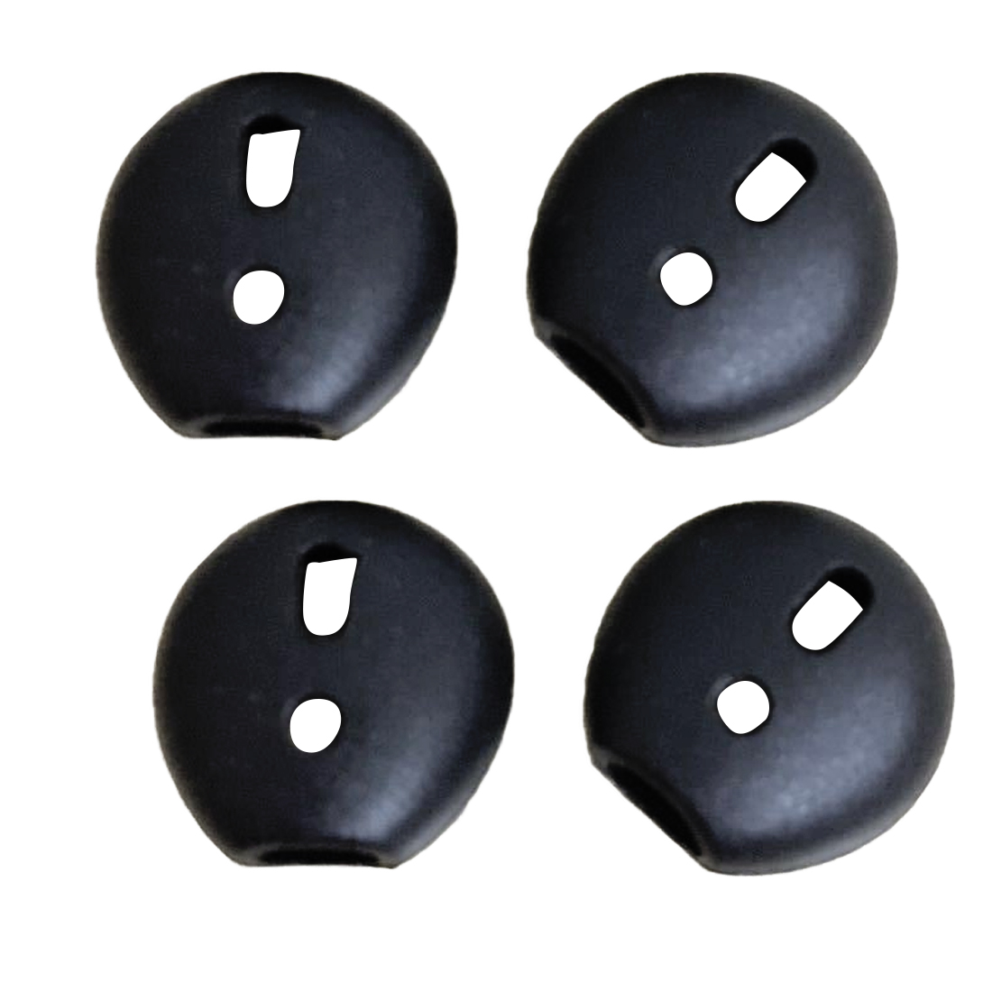 Marsnaska Pro Black 8 pcs Soft Silicone Earphone Ear Tips Ear Pads For iPhone 5 5s 6 6plus 6s 7 7plu