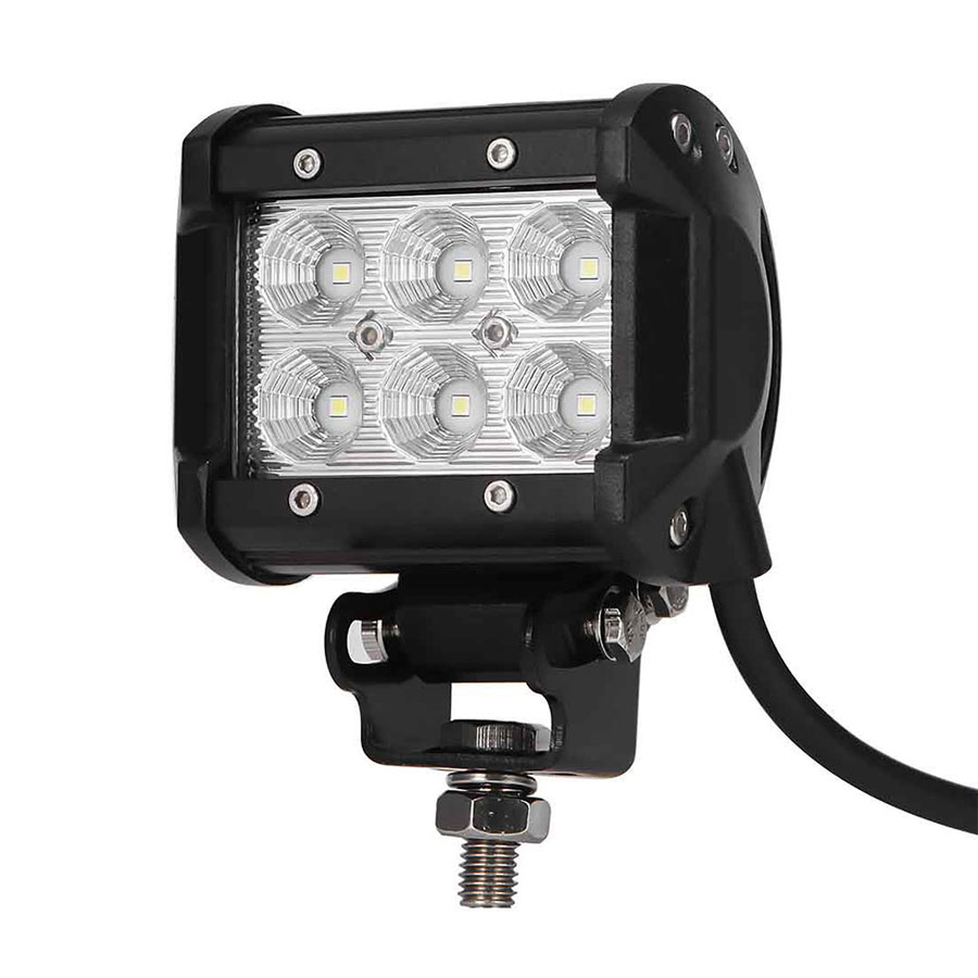 1Pc Car LED Work Light Offroad Lights 18W 6500K Led Chips Flood&Spot Driving Lamp Sportlight for 12v Vehicle SUV ATV
