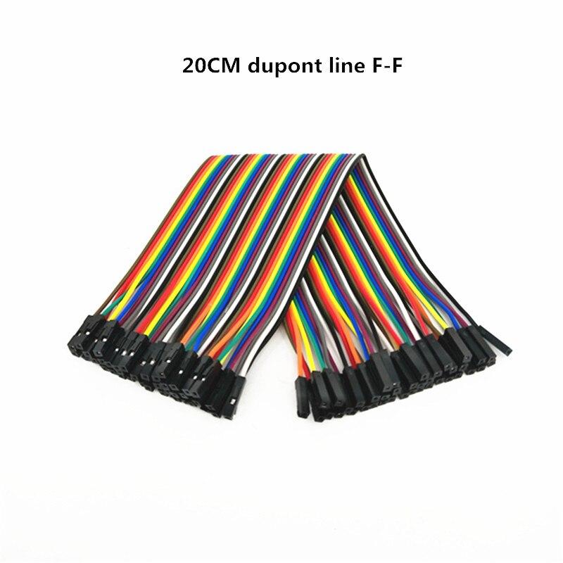 400 шт. 20 см DuPont линии Женский Перейти Dupont кабель провод F-F DuPont линии 1 P-1 P расстояние 2.54 мм для DIY макет