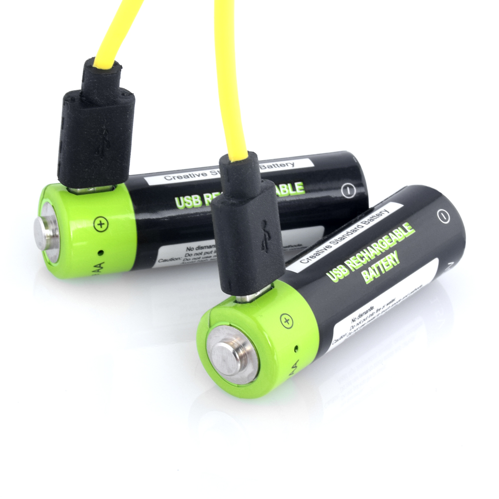 2x 1250mAh Rechargable <font><b>aa</b></font> <font><b>Lithium</b></font>-ion Polymer <font><b>Batteries</b></font> Usb <font><b>Charger</b></font> <font><b>1.5v</b></font> Volt <font><b>AA</b></font> Li-ion Lipo <font><b>Battery</b></font> For Remote Controls Toys image