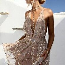 שמלת עמוק נצנצים סקסי