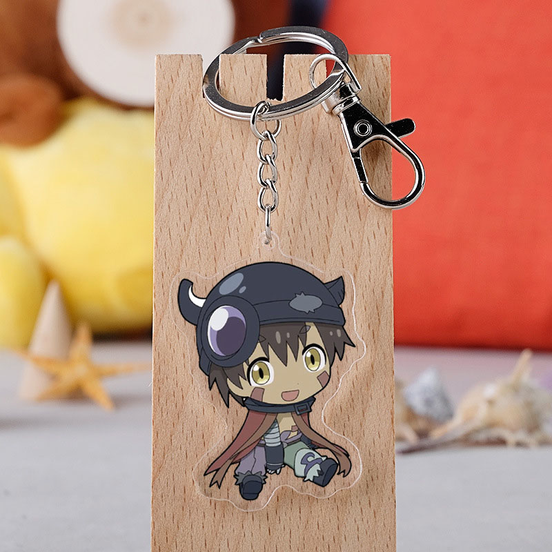 Anime Made In Abyss Keychain Japanese Anime Cartoon Figure Model Key Ring