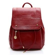 Женщины рюкзак высокое качество мягкое твердой кожи Mochila Feminina опрятный школьная сумка для подростков девочек путешествия Топ-ручка рюкзак