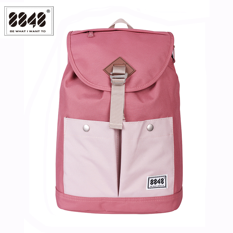 8848 Brand Backpack Women Backpack Travel Backpack Waterproof Oxford Soft Back Large Capacity Bag Pink Style Laptop 132-028-008