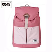 8848 Brand Backpack Women Travel Waterproof Oxford Soft Back Large Capacity Bag Pink Style Laptop 132-028-008
