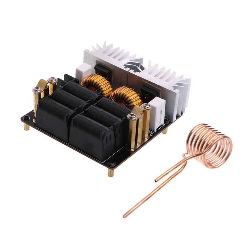 Low Zero Voltage Induction Heating Board Module 20A 1000W 12V-48V ZVS High Quality module xilinx xc3s500e spartan 3e fpga development evaluation board lcd1602 lcd12864 12 module open3s500e package b