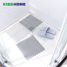 Grey White Bathroom Non-slip Mat PVC 15cm*15cm Waterproof Splicable Shower Bath High Quality customzied Pattern Toliet Mats