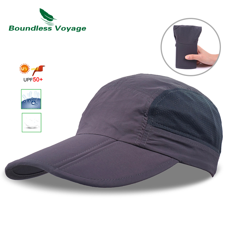 Boundless Voyage Folding Unisex Baseball Running Hiking Sport Trucker Cap Summer Adjustable Hat Waterproof Visors Headgear fashion baseball caps women hip hop cap floral summer embroidery spring adjustable hat flower ladies girl snapback cap gorras