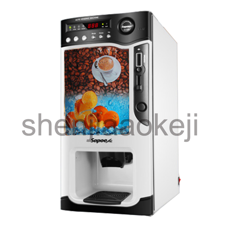 automatic Smart coin-operated commercial instant coffee machine hot and cold coffee machine milk tea juice beverage machine