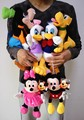 Free shipping Mickey Minnie Mouse,Donald duck daisy,GOOFy Pluto dog Mickey plush toys set for children brithday gifts
