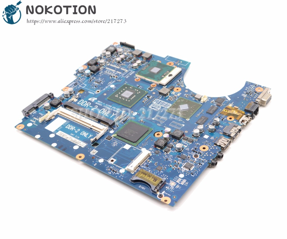 NOKOTION For Samsung NP-R522 R522 Laptop Motherboard PM45 DDR2 HD4300 graphics BA92-05739A BA92-05739B BA41-01060A BA41-01061A nokotion laptop motherboard ba41 01181a for samsung r425 mainboard ba92 06034a ba92 06034b hd5145 512mb ddr2 tested