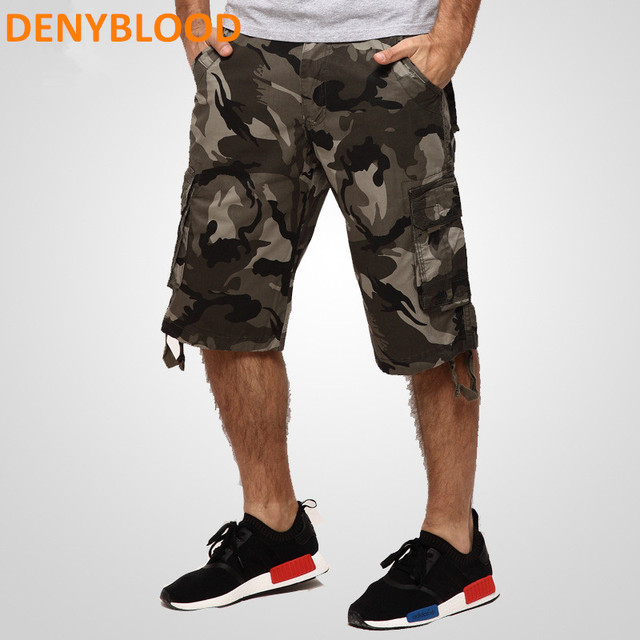 c8c97970f9 New 2017 Summer Men's Capris Casual Camouflage Loose Cargo Shorts Men Large  Size Multi-pocket Military Short Pants Bermuda 763