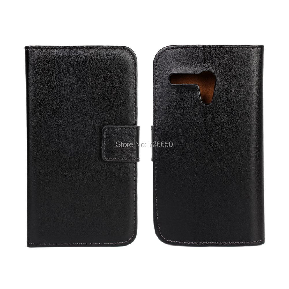 Genuine Leather Case For Moto G Wallet Style with Stand TV Function + Free Screen Protector
