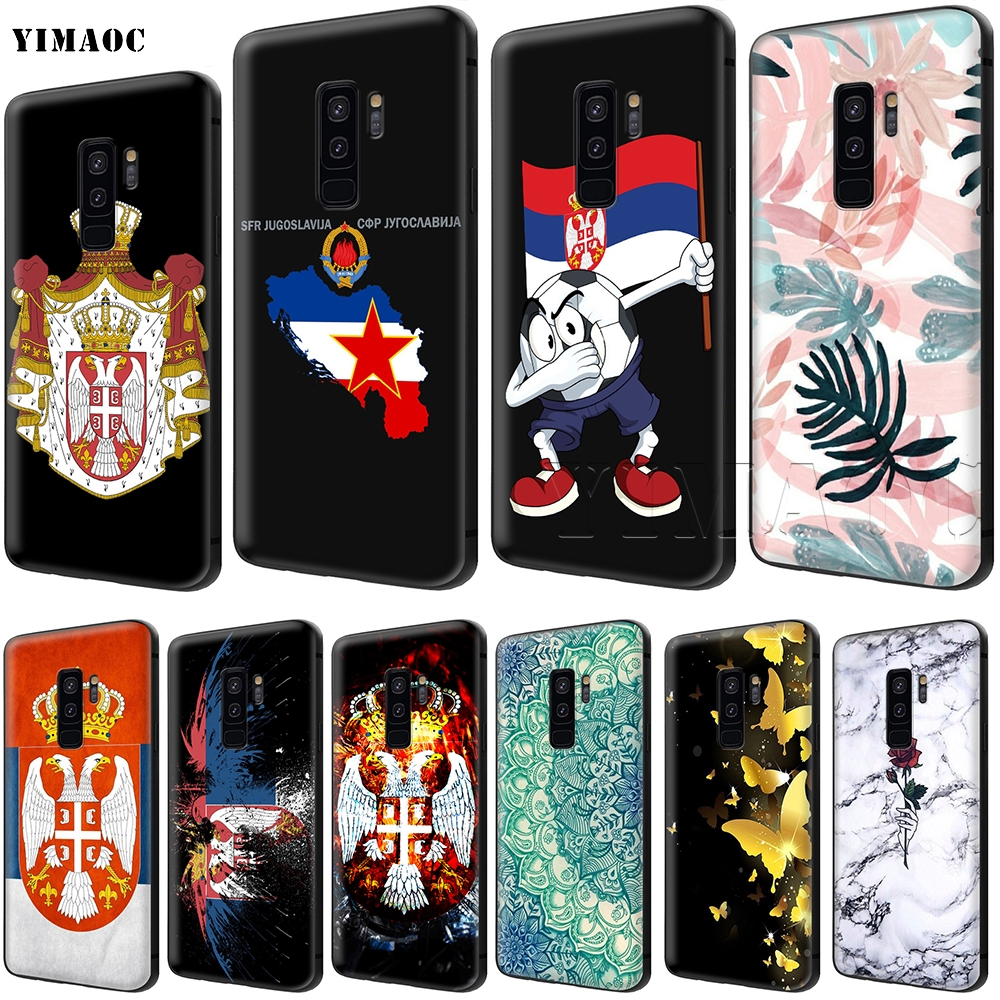 YIMAOC Serbia Flag Soft Silicone Case for Samsung Galaxy S6 S7 Edge S8 S9  Plus A3 A5 A6 Note 8 9-in Fitted Cases from Cellphones   Telecommunications  on ... 2cc1ac0b9417