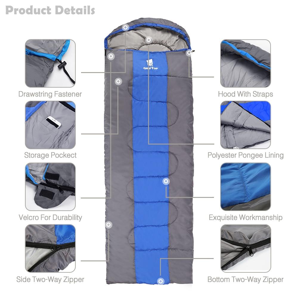 GeerTop Camping Backpacking Sleeping Bag Ultralight Down Filled Waterproof Envelope Sleeping Bag with Compression Sack Backpacke in Sleeping Bags from Sports Entertainment