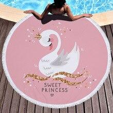 Zkcenier 2019 Лебедь Пляжная накидка бикини, верхняя одежда Плавание Пляжная накидка с цветочным накидка-полотенце для пляжа
