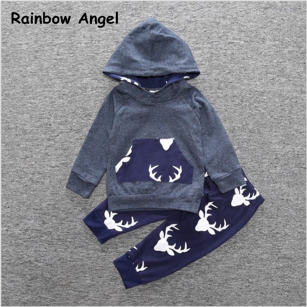 2018 Spring Autumn Children Sets Clothing For Baby Boys Sport Suit Childrens Coat Baby Childrens Sets Two-Piece Sweatershirt