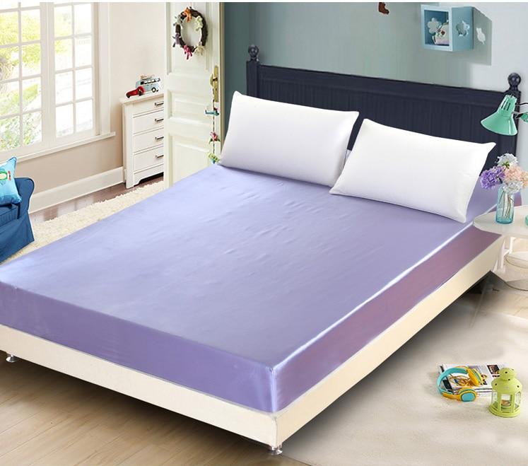 silksatin twin full queen size fitted sheet mattress cover sheet home textiles 120x200cm 150x200cm