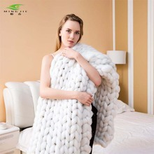 2018 Super Soft Chunky knit blanket Thick Line Giant Yarn Home Bedding Living Room Decor Photography Props Wolldecke Blankets